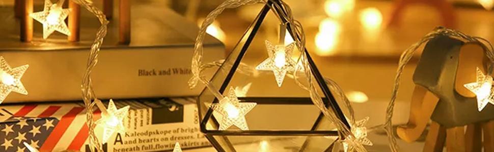 crystal starry string lights