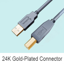 USB 2.0 Highspeed A Male to B Male Printer Cable