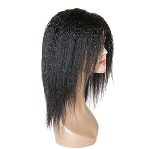 brazilian virgin human hair wigs glueless machine made wigs with bangs yaki wigs none lace