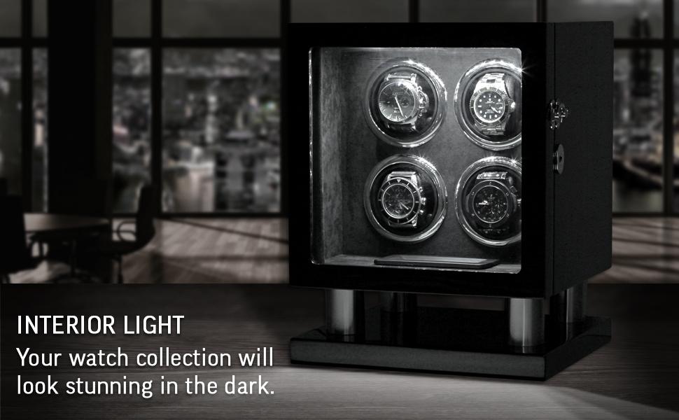Leader 4 watch winder interior light