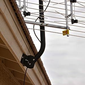 Channel Master, TV Antenna, Mount, Mast, Pole, Slanted, Eave, Roof, Angled, CM-3090