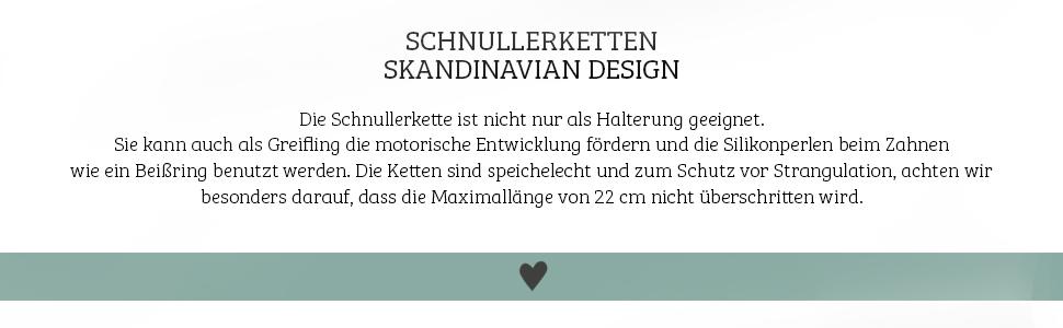 Cadena para chupete de Hej Jojo de madera de silicona para beb/és dise/ño escandinavo Jakob en azul blanco 100/% hecho a mano en Alemania estilo escandinavo gris