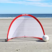 take pop up goals to the beach