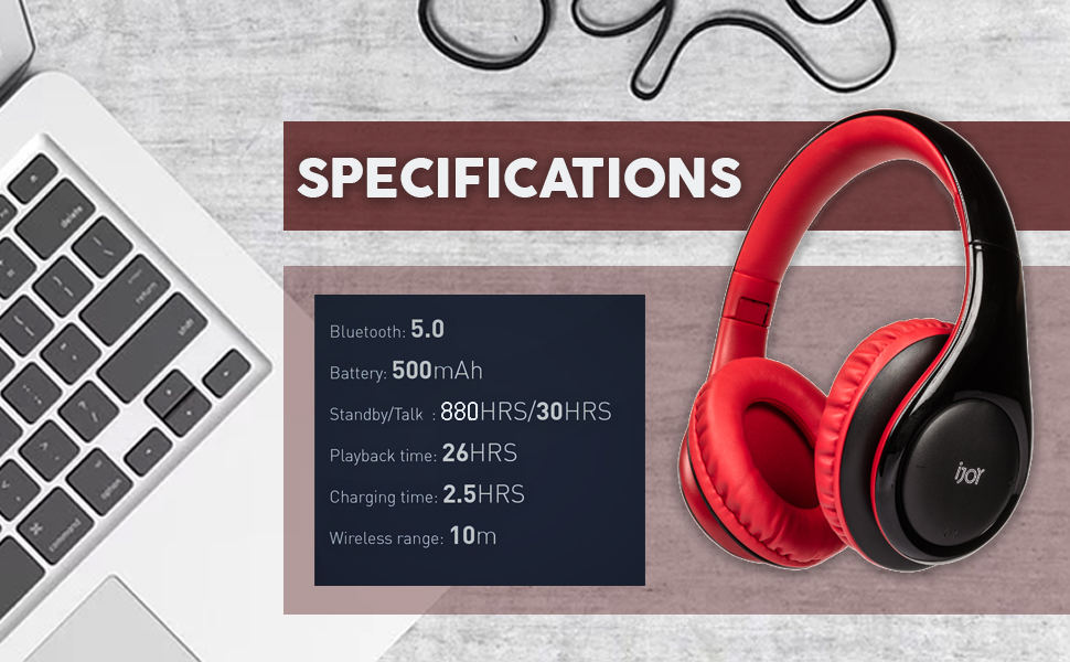 noise canceling ijoy iso bluetooth headphone wireless headset over ear with microphone wired