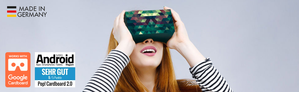 Girl with VR Glasses on