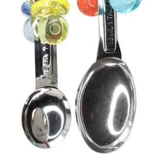 1969 Spoon Delight Bonka Bird Toys Stainless Steel Acrylic Colorful Parrot Budgie Finch Macaw Quaker