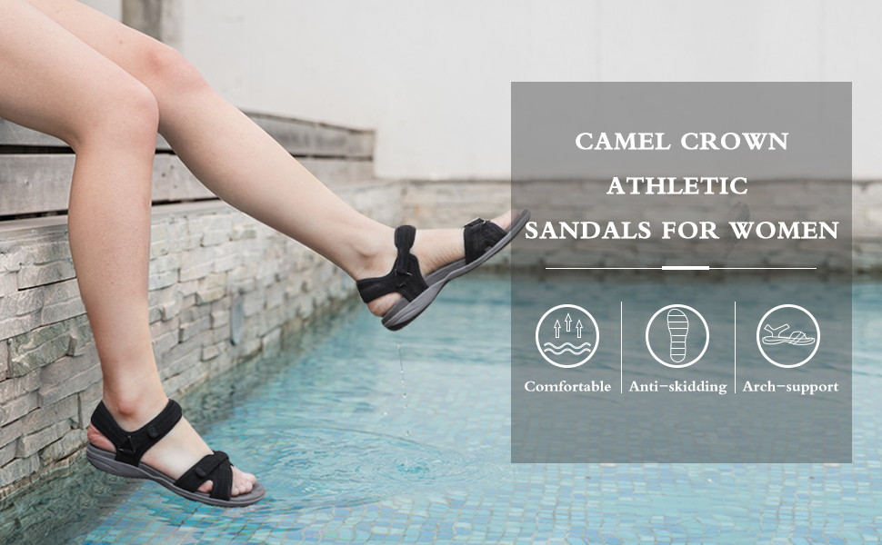 CAMEL CROWN ATHLETIC SANDALS FOR WOMEN