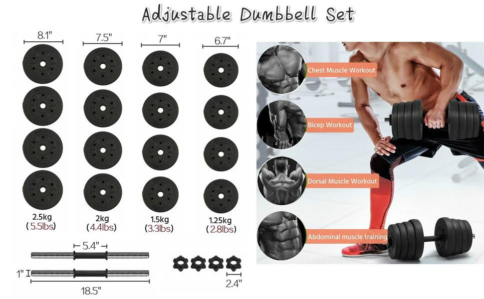 adjustable dumbble set