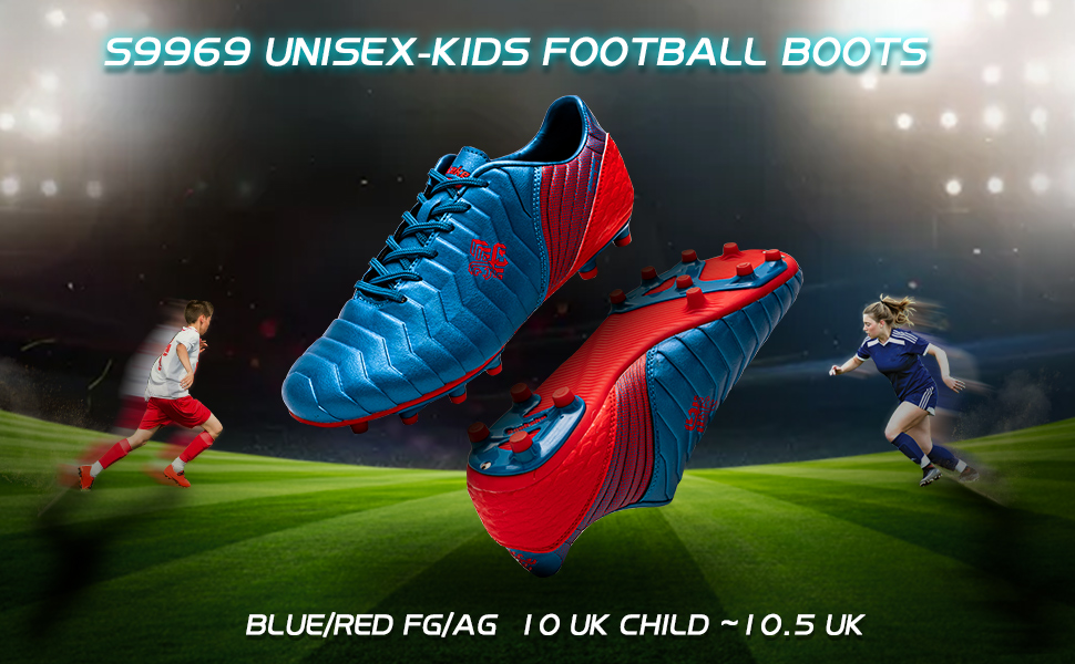 Football Boots FG Kids Teenager Soccer Training Shoes for Unisex Kids