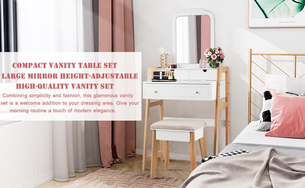 Compact Vanity Table Set