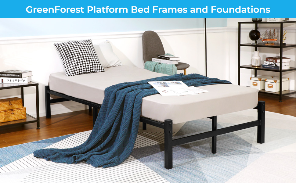 GreenForest Platform bed frame