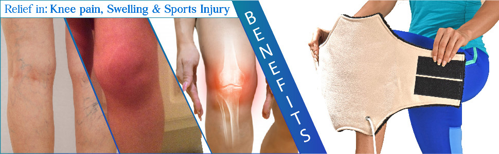 benefits of heating pad for relief in swelling knee pain