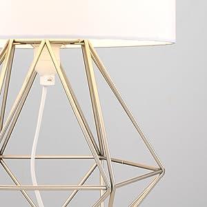 Lámpara base jaula cesta abierta geométrics