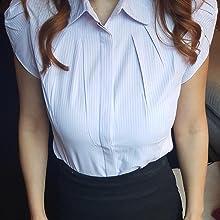 spread collar uniform shirt
