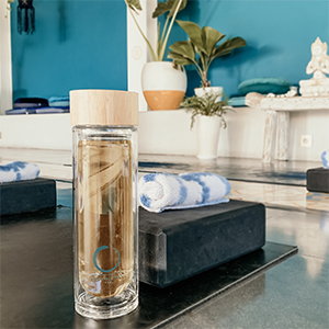 tea infuser water bottle bamboo tea tumbler glass tea infuser bottle  tea water bottle