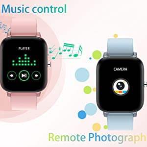 when listen music, just control playback, pause and previous next song via the fitness watch direct
