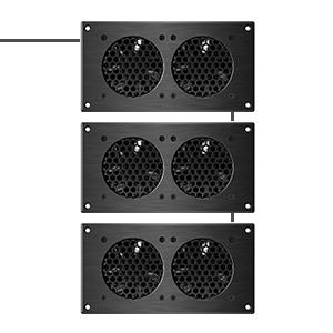 AC Infinity AIRPLATE S5 Quiet Cooling Blower Fan System with Speed Control Home Theater AV Cabinets