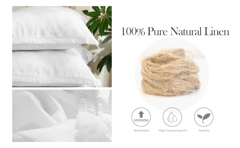 100% natural pure linen with tassels