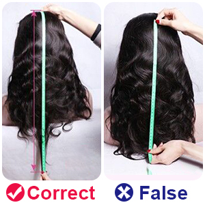 Measure the Wig Length with Correct Method
