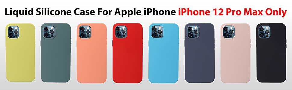 liramark iphone 12 Pro max silicone case