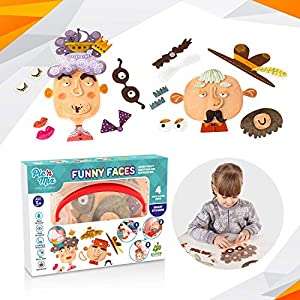 Luxeshion Funny Faces Changing Puzzle Toy Kids Early Education Different Moods Emotions Facial Expressions Puzzle Toys Educational Games Puzzle Preschool Learning Toys Baby Early Development Toy