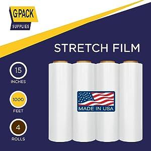 15 inches Stretch Wrap Film 4 Rolls