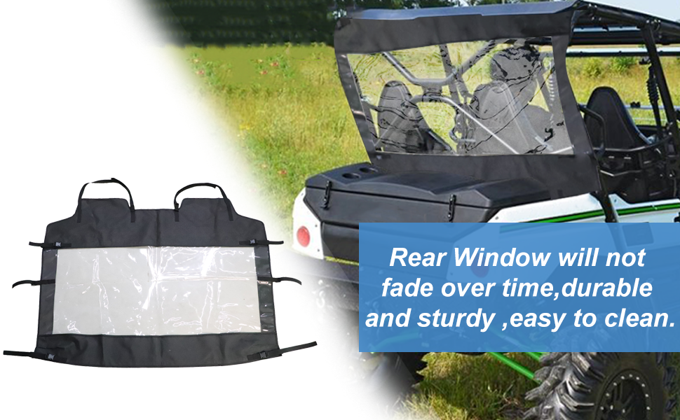 MFC Rear Windshield Rear Window Rear wind guard Fit for UTV Kawasaki Teryx4 800 2014-2019