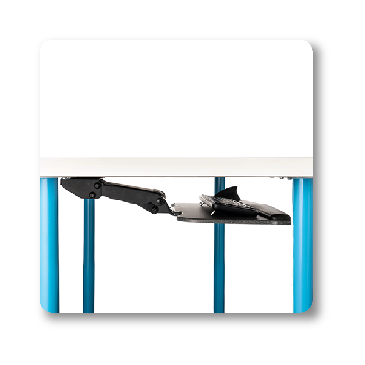 """Under Desk Keyboard Tray Easy to Install 20/"""" x 11/"""" Sliding Undermount Tray with"""
