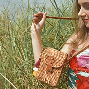body bamboo handbags handbag essentials womens circle womans crafts cute mini yellow brown small