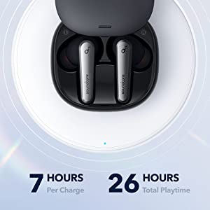 7 Hours Per Charge 26 Hours Total Playtime