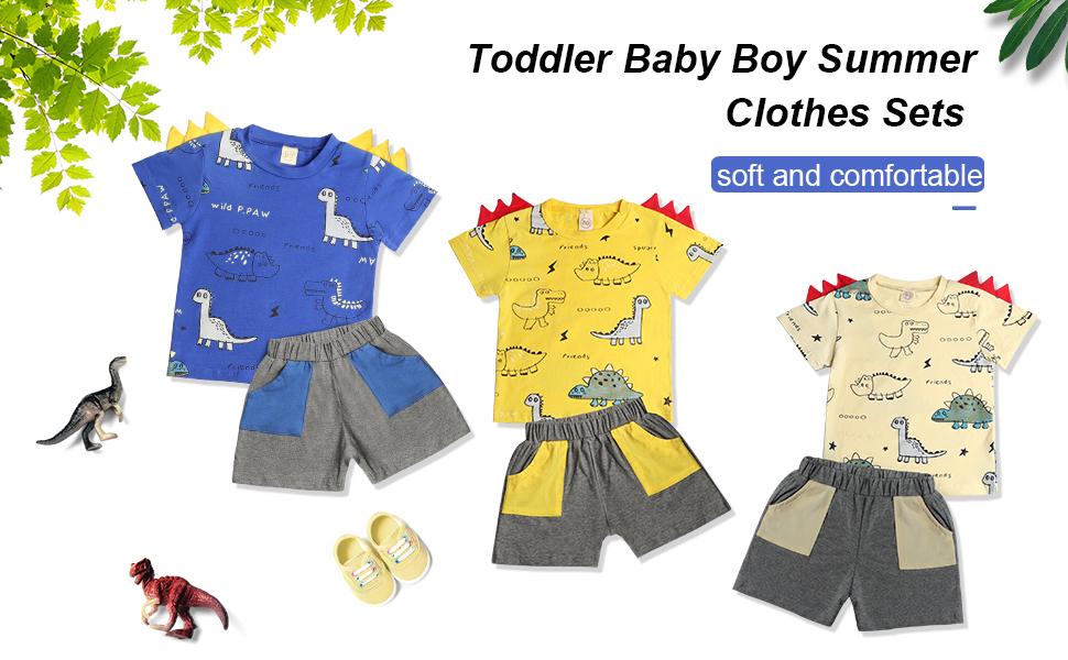 Muama Toddler Baby Boy Summer Clothes Sets