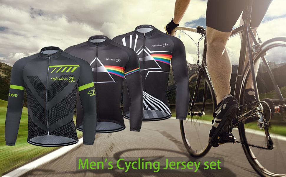 cjbaok Maillot Ciclismo Manga Larga Hombre para Bicicleta Monta/ña Ciclismo Deportivo MTB Shirt