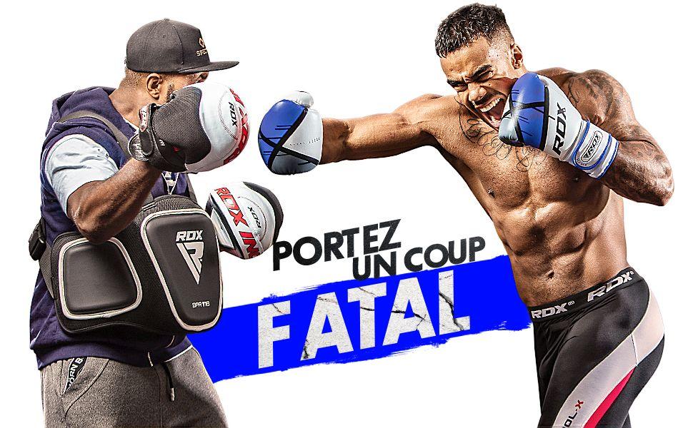 RDX Gants de Boxe F7 Combat Sac Frappe Kickboxing Entrainement