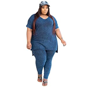 2 piece women outfits sets plus size