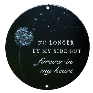 Sympathy Gift - memorial wind chime black wording