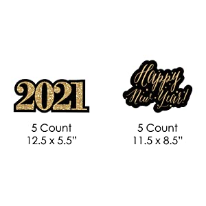 New Year's Eve - Gold Lawn Decorations - 2019 Yard Decor | Big Dot of Happiness