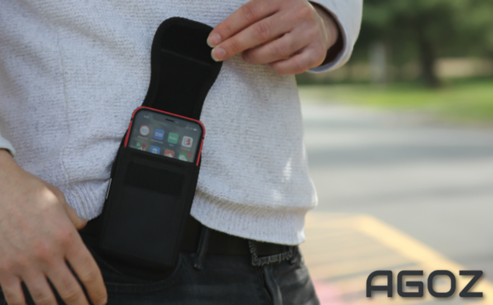 Sonim XP8 XP8800 Sonim XP7 XP7700 Rugged Vertical Pouch Metal Clip and Belt Loops Phone Case Holster