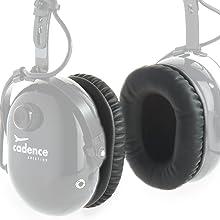 aviation headset ear cups