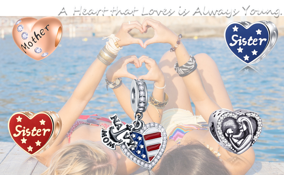 EMOSTAR Mothers Day Series Charms fits Pandora Women Bracelet
