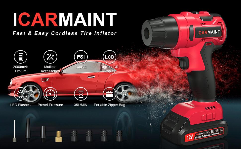 ICARMAINT Tire Inflator Air Compressor