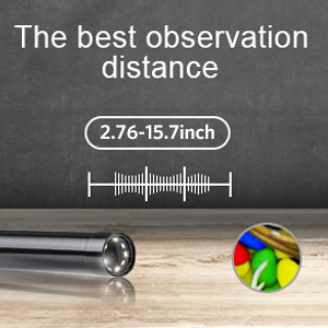 Borescope focal range