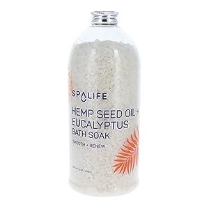 Spa Life Natural Hemp Seed and Eucalyptus Bath Soak