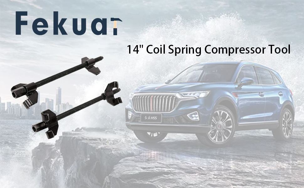 "14"" Coil Spring Compressor Tool Auto Suspension Compression Remover Installer Tool Set of 2 Black"