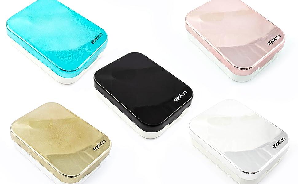 Caja de Lentes de Contacto Kit de Viaje SFY Estuche Lentillas con Pinza Aplicador Pala Botella de Solución Espejo Incorporado (CL01-4): Amazon.es: Salud y cuidado personal