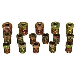 Corrosion Proof Rustproof 4LIFETIMELINES Brake Line Kit 25Ft Transmission Line Tubing Coil with 16 Fittings Professional Grade Galvanized Steel Tube 3//16 Brake Line Zinc Coated