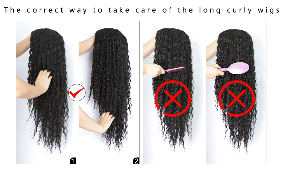 HOW TO TAKE CARE OF THE LONG CURLY WIG