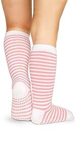 piccola calza da donna in colori vivaci a righe rigate con suola antisdrucciolevole antiscivolo