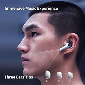immersive music experience, three ear tips