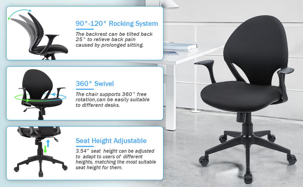 360° Swivel Adjustable Desk Chair
