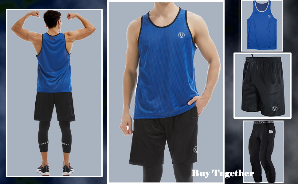 Buy Together with Tank TOPS AND AOMPRESSION PANTS